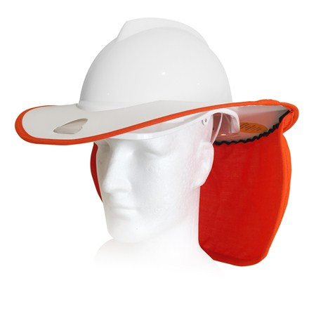 ARC Tested - White / Orange - Suited to MSA and Bullard wide brim helmets