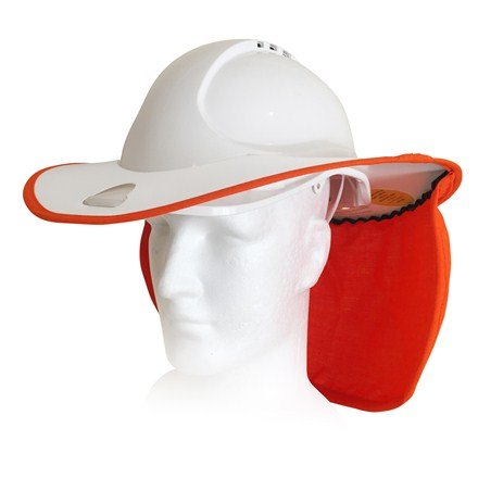 ARC Tested - White / Orange - Suited to MOST standard helmets with rear gutter